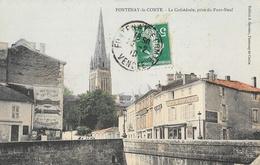Fontenay-le-Comte (Vendée) - La Cathédrale Prise Du Pont Neuf - Edition J. Garnier - Carte Colorisée - Fontenay Le Comte