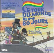 """DISQUE 45T """"LE TOUR DU MONDE EN 80 JOURS"""" - Enfants"""