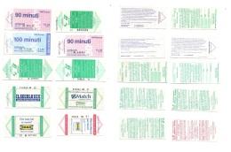 Bus Ticket Liguria AMT Genova - 10 Different (lot B) - Subway