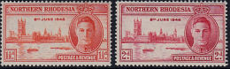 A1126 NORTHERN RHODESIA 1946, SG 46-7  Victory,  MNH - Rhodesia Del Nord (...-1963)