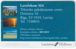 LATVIA A-077 Chip Lattelkom - Landscape, Coast - Used - Latvia