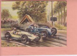 OLD  POSTCARD -  MOTOR RACE - FORMEL 1 - GRAND PRIX FRANCE REIMS - ETANCELIN - CARACCIOLA'S (1) - Cartes Postales