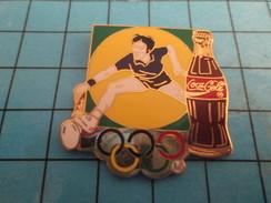 Pin2417 Pin's Pins / COCA-COLA TENNIS JEUX OLYMPIQUES Superbe Et Grand Pin's Par ARTISS REGINA - Coca-Cola