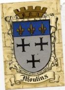 03 MOULINS - Blason, Armes De La Ville, Héraldique - Superbe CPSM (à Plats Or Et Argent) N° 1317 U Barré-Dayez - Moulins