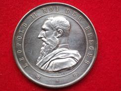 MEDAGLIA PREMIO LEOPOLDO II RE DEL BELGIO 1888 BRUXELLES - Belgique