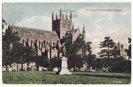 Sydney Australia, St Mary's Cathedral 1900s Vintage Color Postcard M8803 - Sydney