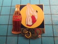 Pin2417 Pin's Pins / COCA-COLA PLONGEON OLYMPIQUE JEUX OLYMPIQUES Superbe Et Grand Pin's Par ARTISS REGINA - Coca-Cola