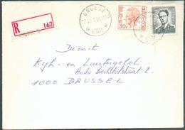 Enveloppe Recommandée De L'agence BRUGGE 20 * 8380 Du 10-1-1975 Vers Bruxelles; Port De 31 Fr.50  (30Fr. ELSTROËM + 1Fr5 - Sternenstempel