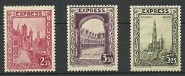 BELGICA 1929 MI 267/9 * EXPRES MH VC 13 EUROS - Belgio