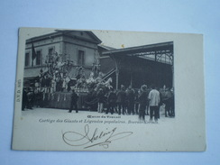 Bruxelles // Oeuvre Du Travail - Cortege Des Geants - Boeren Kermis  // 1901 Send In NL  Ed. D.V.D.8025  Rare - Sonstige