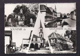CPSM 67 - STOTZHEIM - SOUVENIR DE - TB CP Multivue Dont Intéiruer , Eglise , Rue , Etc... + TB Oblitération Verso 1961 - France