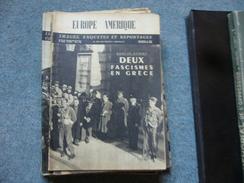 ( Belgique ) Revue Europe Amerique Bruxelles  N°46 1946  Grece Fascisme - Books, Magazines, Comics