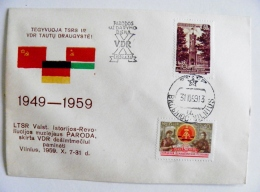 Cover Ussr Special Cancel Vilnius 1959 Lithuania DDR Germany Exhibition - Lithuania