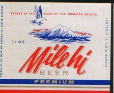 Milehi Premium Beer, Denver Colorado (U.S.A.), Beer Label From 60`s. - Beer