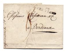 !!! DEPARTEMENT CONQUIS 96 L'OURTHE MARQUE POSTALE DE VERVIERS 36 MM SUR LETTRE DE 1809 - Postmark Collection (Covers)