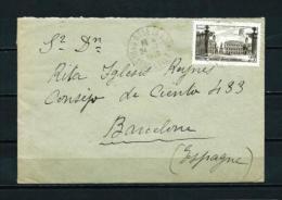 Francia -  Sobre  (año-1949)  Circulado A Barcelona - Marcofilia (sobres)