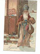 Superbe Carte  St Nicolas    Carte  En Relief - Nikolaus