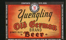 Yuengling Old German Brand Beer, Pottsville Pennsylvania (U.S.A.), Beer Label From 60`s. - Bier