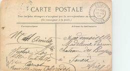 LETTRE Carte Cachet Perlé SOUEIX Ariège 1909 2scans - Postmark Collection (Covers)