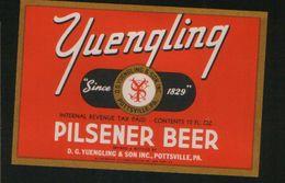 Yuengling Pilsener Beer, Pottsville Pennsylvania (U.S.A.), Beer Label From 60`s. - Bière