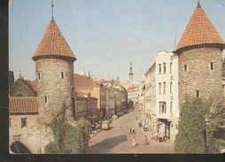 K2. Estonia USSR Soviet Unposted Postcard Tallinn A View Of The Viru Street Tower - Estonia