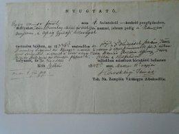 AV504.10  Hungary  Receipt Nyugtató 1 Frt - Boronkay Miklós -Czéke Cejkov Slovakia- 1842 -Köröskényi Tamás - Non Classés