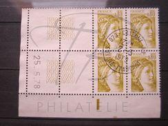 """VEND BEAUX TIMBRES DE FRANCE N° 1971 , EN BLOC DE 4 COIN DATE """" 25.5.78 """" , OBLITERATION """" CAYENNE R.P """" !!! - Coins Datés"""
