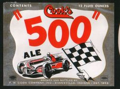 Cook`s 500 Ale, Evansville Indiana (U.S.A.), Beer Label From 60`s. - Bière