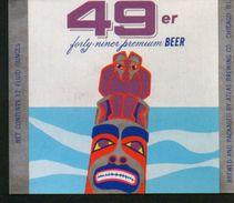 49er Premium Beer, Chicago Illinois (U.S.A.), Beer Label From 60`s. - Bier