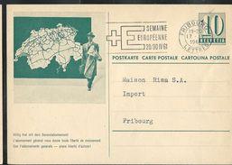 Carte De Service  Chemins De Fer SBB-CFF. N° Zumstein 2009 N° 54a. - 025 Obl: Fribourg-Lettres 17/04/1961 - Enteros Postales
