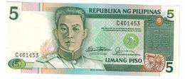 Philippines 5 Piso 1985 Signature 10 UNC  .C. - Filippine