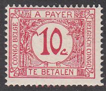 BELGIAN CONGO      SCOTT NO. J2   MINT HINGED    YEAR  1923 - Congo Belga