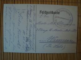 Marine - Feldpostkarte, Stempel I. Kompagnie IX. Seewehr Abteilung, 21.1.15 - Brieven En Documenten