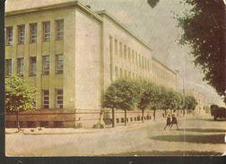 K2. Lithuania USSR Soviet Unposted Postcard Siauliai Schaulen K. Preiksas Pedagogical Institute - Lithuania