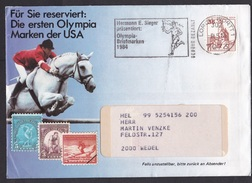 Germany: Advertorial Cover, 1984, 1 Stamp, Cancel Collect Stamps Olympics, Torch (traces Of Use) - Brieven En Documenten