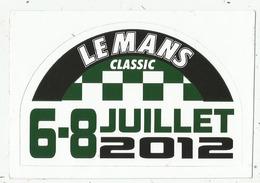 Circuit Des 24 H Du Mans ( 72 ) : Le Mans Classic  De 2012 - Autocollant - Autocollants