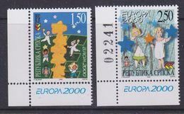 Europa Cept 2000 Bosnia/Herzegovina Serbia 2v  (corner+1v With Number) ** Mnh (37138B) - Europa-CEPT