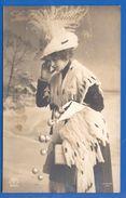Fantaisie; Neujahr; Frau Mit Hut; 1911 Bucuresti Nach Hosszufalu, Sacele; Romania - Neujahr