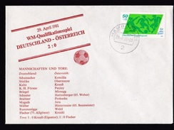 Germany: Commemorative Cover, 1981, 1 Stamp, World Championship Soccer, Football, Sports (traces Of Use) - [7] West-Duitsland