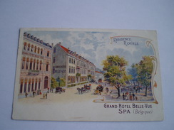 Spa // Litho // Grand Hotel Belle-Vue (Residence Royale) Ca 1900 - Spa