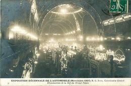 Cpa PARIS 75 Exposition Décennale De L' Automobile, Novembre 1907, Illuminations De La Nef Du Grand Palais - Expositions