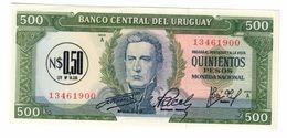 Uruguay 0,50 Pesos On 500 Pesos 1975 UNC  .C. - Uruguay
