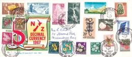 New Zealand 1967 Decimal Currency Introduction Set Of 18 FDC - FDC