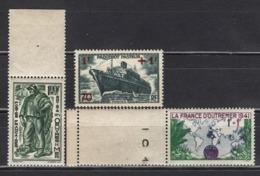 FRANCE 1941 - Y.T. N° 502 / 503 / 504  - 3 TP NEUFS**  /W424 - France