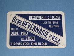 1 Losse Kaart BEVERNAGIE Brouwerij St Jozef LICHTERVELDE - Barajas De Naipe