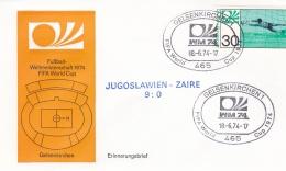 Germany Cover 1974 FIFA World Cup Football -  Gelsenkirchen Yugoslavia-Zaire 9:0   (DD9-28) - Coppa Del Mondo