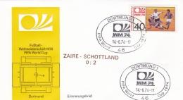 Germany Cover 1974 FIFA World Cup Football -  Dortmund Zaire-Scotland 0:2   (DD9-28) - Coppa Del Mondo