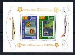 Sri Lanka - 2006 - 50th Anniversary Of Europa Stamps Miniature Sheet - MNH - Sri Lanka (Ceylan) (1948-...)