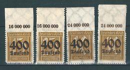 MiNr. 297-300 ** Oberrand - Unused Stamps