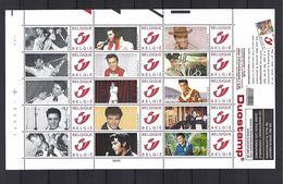 BELGIQUE - BELGIE Mijn Zegel Lot Van 15 Postzegels Duostamps Elvis  Volledig Vel - Belgique